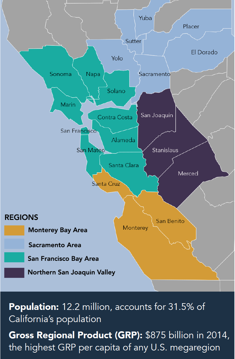 Image of: The Northern California Megaregion Bay Area Council Economic Institute